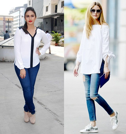 Shirt Style Kurti with Denims and Trousers