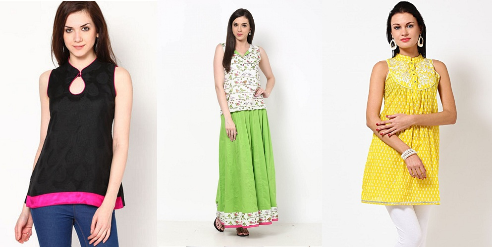 short-kurtis-for-jeans-skirts