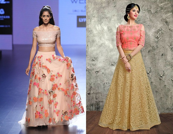 Crop Top Blouse On Lehenga