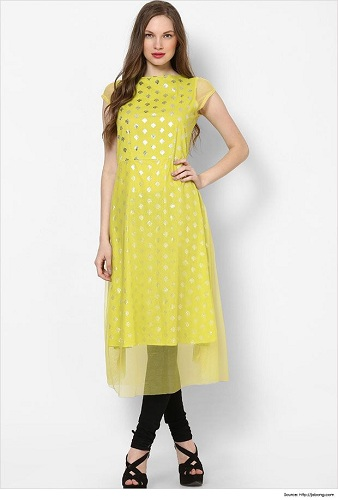 Indian Kurti with the Contemporary Collar