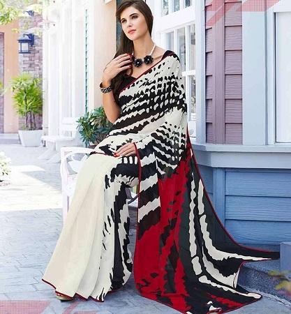 Printed Sarees Drape Design