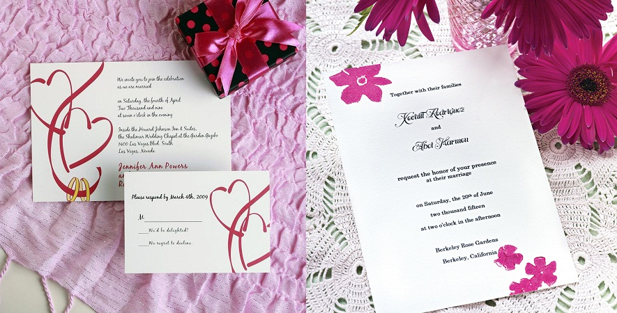 Simple Wedding Invitation Card Design