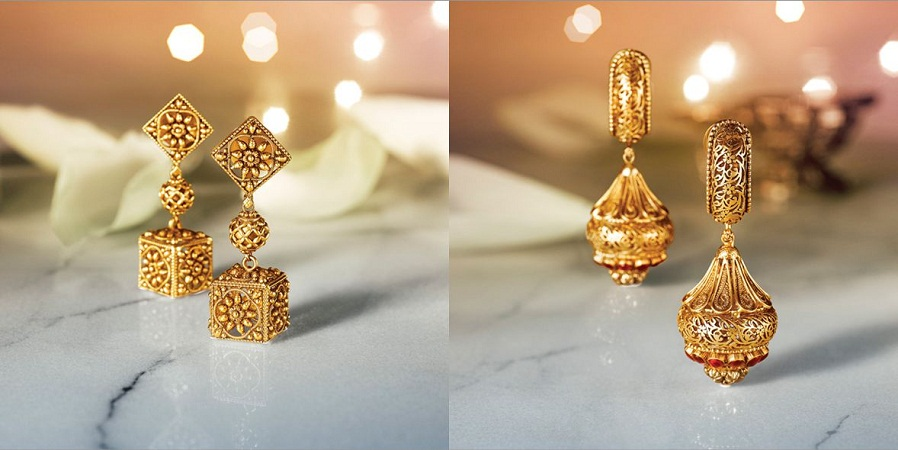 Traditional Golden Jhumkas