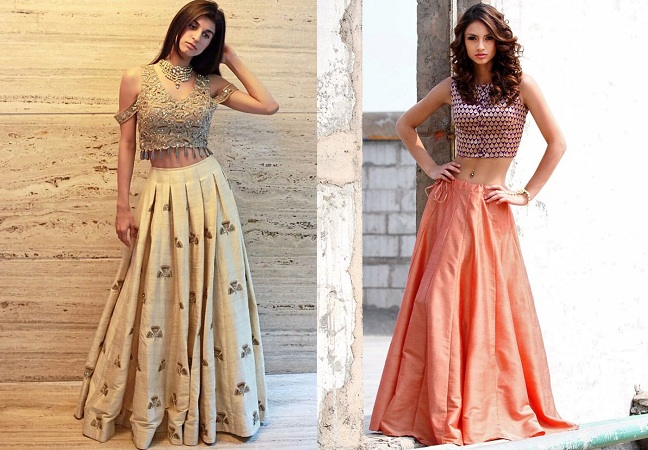 Traditional Lehenga With Crop Top