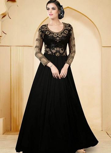 black-indo-western-wear