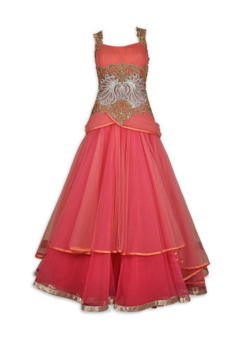 coral-red-indo-western-gown