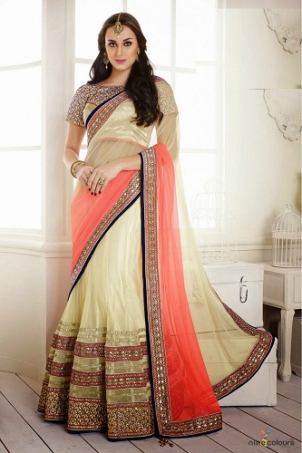 cream-and-peach-half-saree