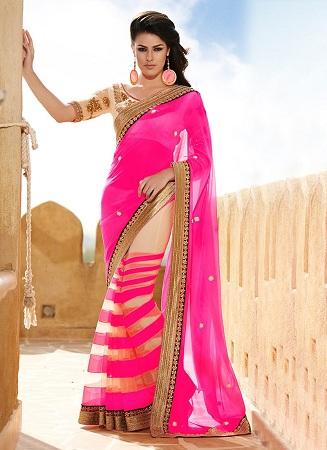opulent-cream-n-pink-half-n-half-saree