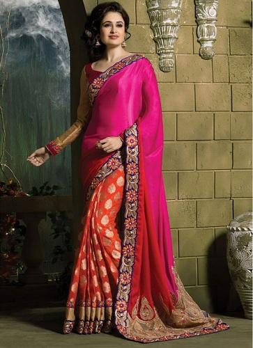 pink-border-contemporary-half-saree