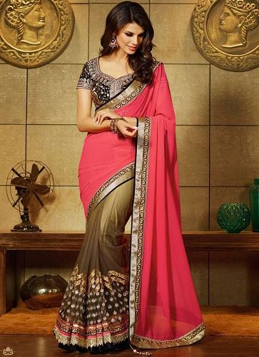 pink-brown-half-net-saree