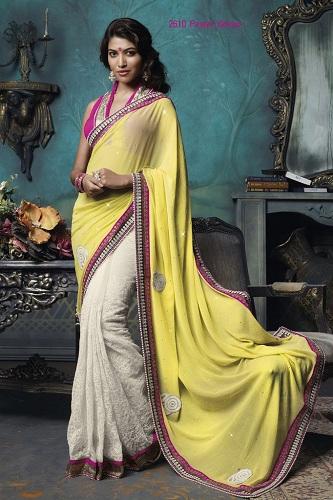 white-yellow-half-net-saree