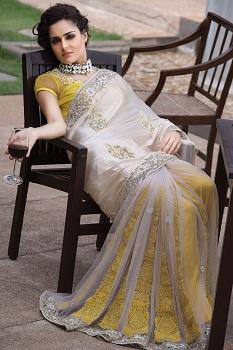 yellow-white-half-saree