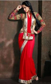 Anarkali style drape