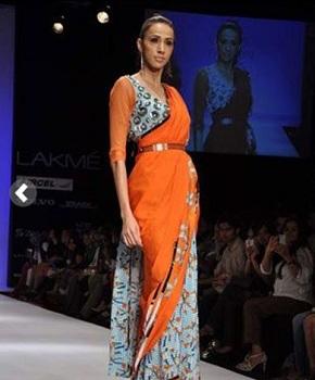 Belted Dupatta Style Saree