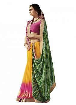 Front Drape Style Saree