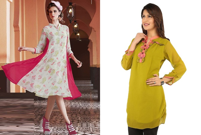 Georgette Flared And Skirt kurti