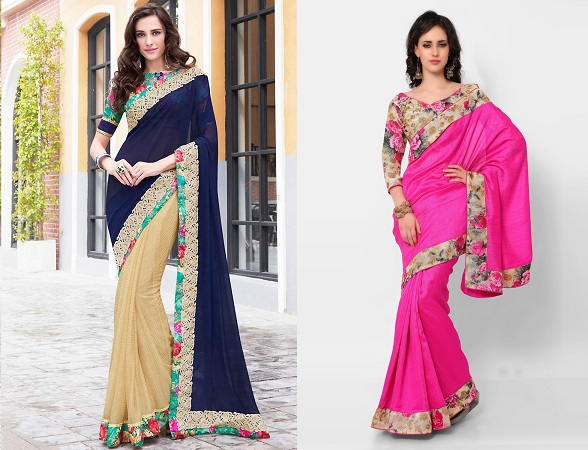 Printed Sarees With Blouse