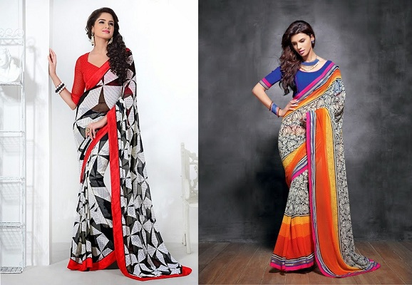 plain-blouses-for-printed-sarees