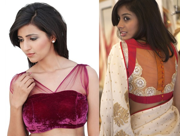 Coloured Saree Blouse