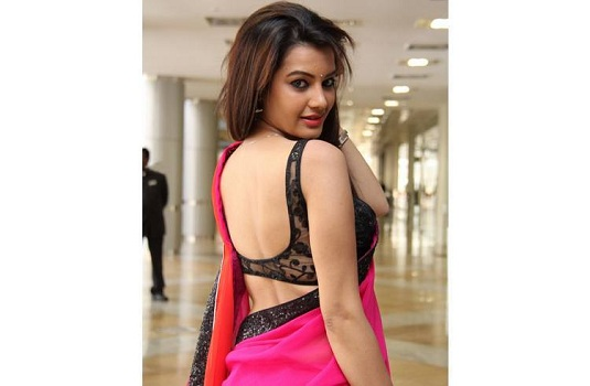 Deep Cut Backless Net Blouse