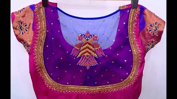 Net Blouse For Silk Sarees