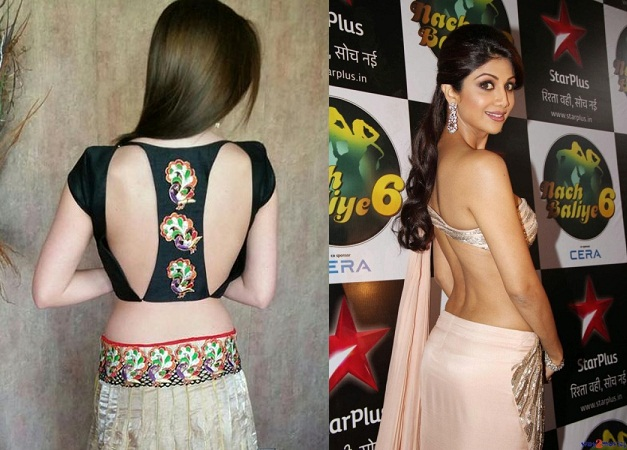 Different Types Of Backless Blouse Design