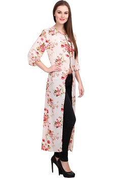 Floral Printed Long kurti for Party