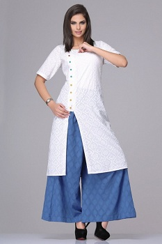 Kurtis-With-Palazzo-Pants-For-Girls