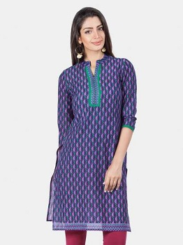 Mandarin collars in kurtis