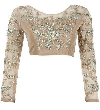 Princess Cut Full Sleeve Blouse In Net