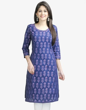 Scoop neckline in kurtis