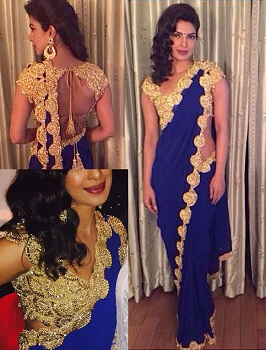 Heavy Blouse With Designer Saree