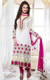 A-line kameez with salwar