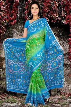 Bandhni silk Sari