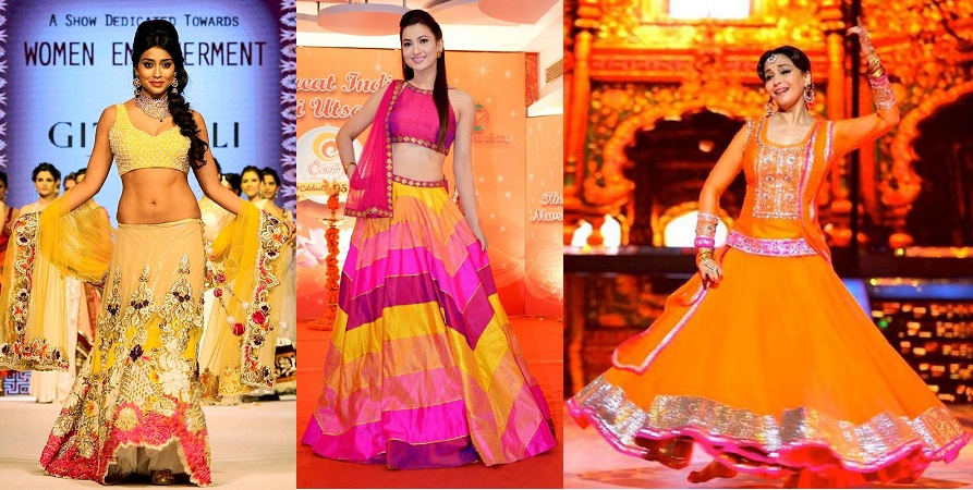 Bright Lehengas For Diwali