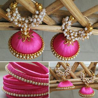 Colourful bangles and jhumkis