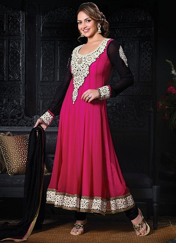 Dark Pink Anarkali Suit