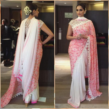 Double pallu Saree By Sonam Kapoor