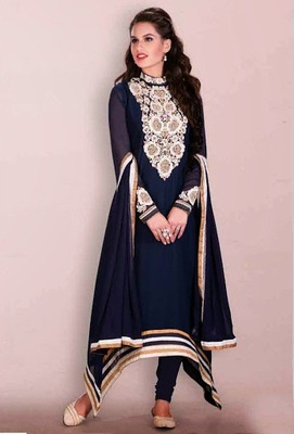 Fish-cut kameez with salwar
