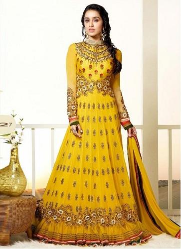 Floral Anarkali Suit