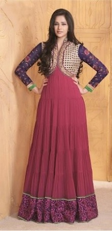 Jacket style kameez with salwar