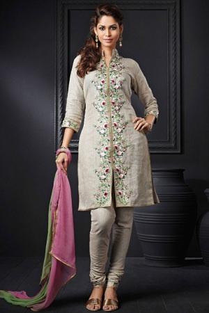 Kurta style kameez with salwar