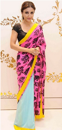 Pop Print Saree