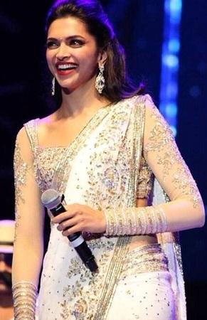 Shoulder  Embellished Saree