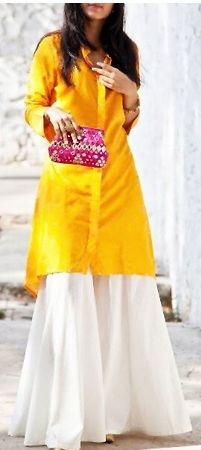 Wide leg pants with Kurti