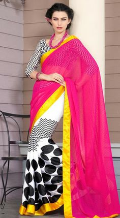 polka dot saree