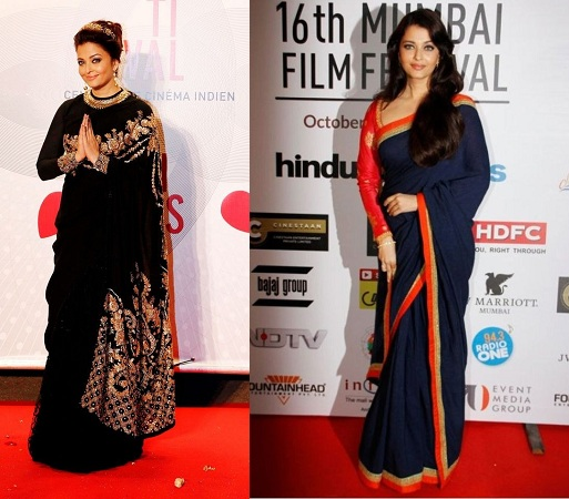 Aishwarya Rai Bachchan in graceful sarees