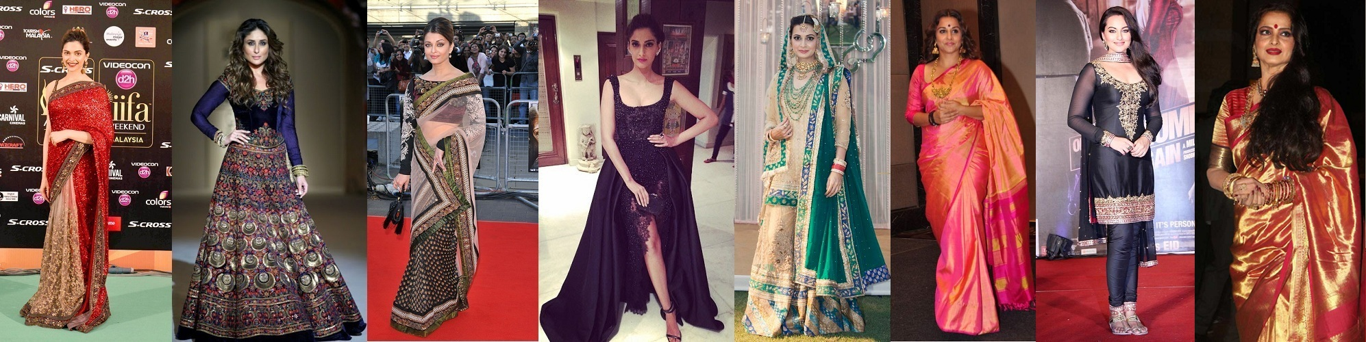 Bollywood Actresses in Indian Wear