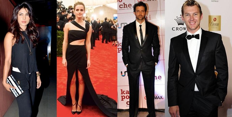 Celebs in Black Dress