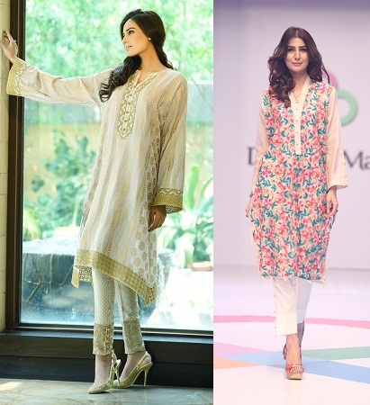 Cigarette Pants With Long Kurti